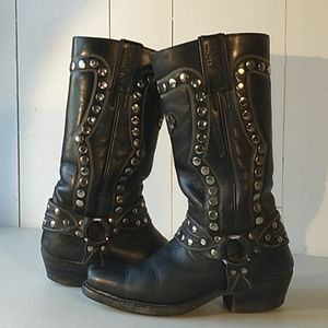 vtg studded sancho women's motorcycle boots
